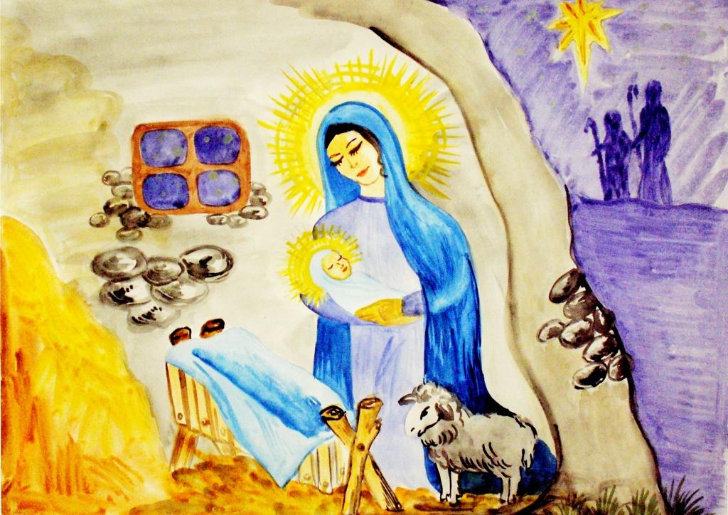Рождество христово рисунки на конкурс